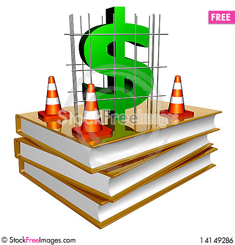 Free Golden Books About Successful Business Building Royalty Free Stock Image - 14149286