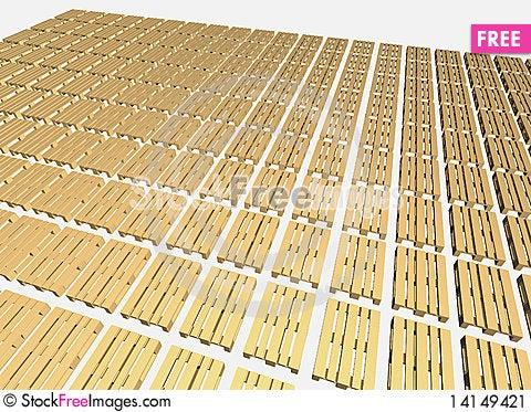 Free Warehouse Pallets. Stock Image - 14149421