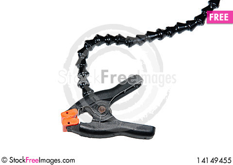 Free Plastic Clamp Royalty Free Stock Photo - 14149455