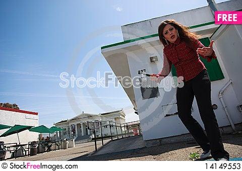Free Latino Woman Acting As A Gang Bangger Stock Photos - 14149553