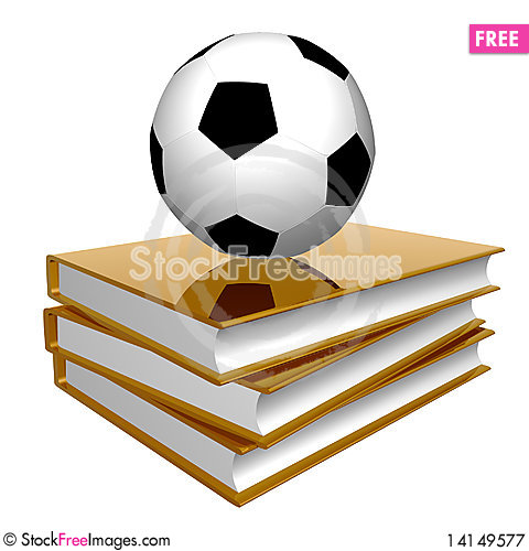 Free Golden Book About Soccer Royalty Free Stock Photography - 14149577