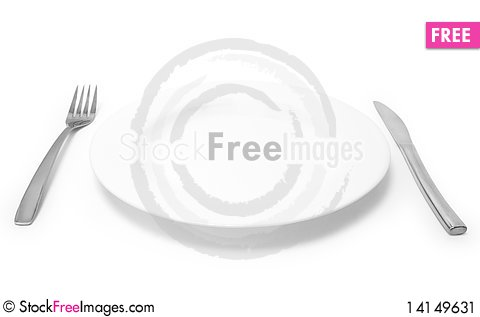 Free Silverware And Plate Stock Image - 14149631