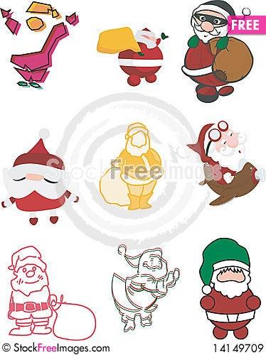 Free Santa Claus Illustrations Royalty Free Stock Images - 14149709