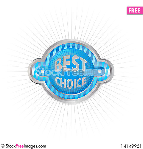 Free Vector Label - Best Choice Stock Image - 14149951