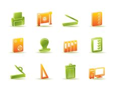 Print Industry Icons Royalty Free Stock Photos