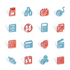 Free Phone  Performance, Internet And Office Icons Royalty Free Stock Images - 14140359