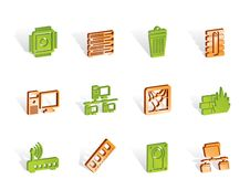 Computer And Website Icons Royalty Free Stock Image