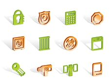 Free Security And Business Icons Stock Images - 14140434