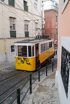 Free Lisbon Typical Tram Stock Image - 14140671