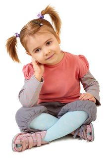 Free Little Funny Girl Stock Photos - 14140993