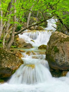Waterfall Flow Royalty Free Stock Photos