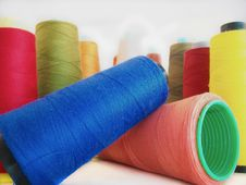 Group Of Colored Sewing Threads Stock Image