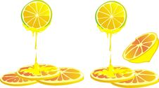 Free Vector Lemon And Honey Stock Photography - 14141362