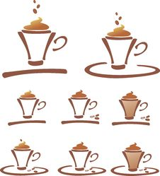 Free Stylized Cup Of Coffee Royalty Free Stock Photography - 14141437