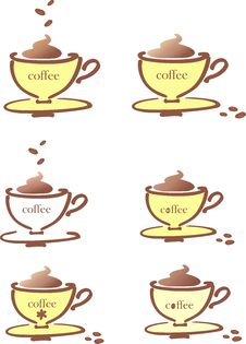 Free Stylized Cup Of Coffee Stock Images - 14141444