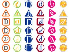 Letter D Icons Badges And Tags