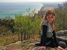 Free Pretty Teenager On The Hill Stock Photography - 14142932