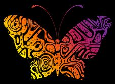 Free Abstract Butterfly Stock Image - 14144171