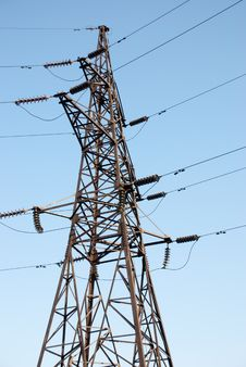Free High Voltage Electric Power Line Stock Photos - 14145203