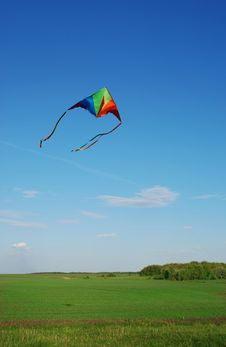 Free Multi-coloured Kite Royalty Free Stock Photography - 14145217