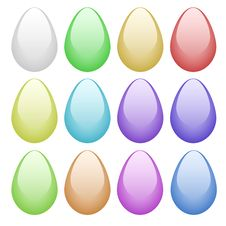 Free Vector Easter Color Eggs Royalty Free Stock Photography - 14145767