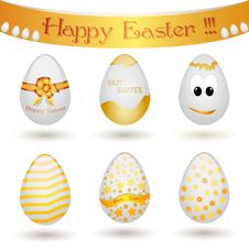 Free Happy Easter Eggs Stock Image - 14145771