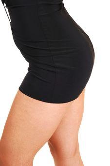Free Nice Butt In Black Dress. Stock Photos - 14146353