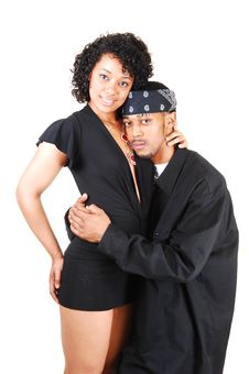 Young Hispanic And Black Couple. Royalty Free Stock Photo