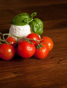 Ricotta With Tomatoes Stock Photo