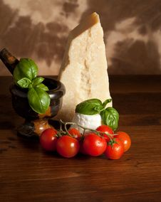 Ricotta  With Basil And Tomatoes