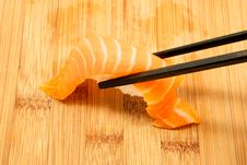 Free Nigiri And Chopsticks Stock Photography - 14147232