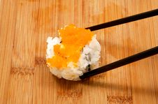 Free Chopped Scallop Roll And Chop Sticks Royalty Free Stock Photo - 14147245
