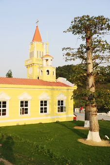A Yellow Church.