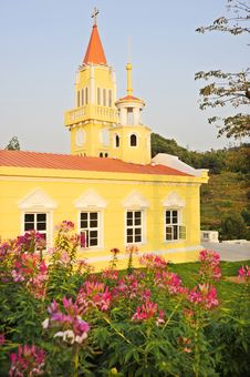 A Yellow Church. Stock Photography