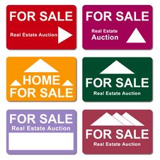Real Estate Sale Signs Royalty Free Stock Photography