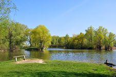 Free Lake And Bench Stock Photo - 14148390