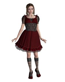 Free Goth Girl 17 Royalty Free Stock Image - 14148406