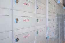 Row Of Letter Boxes Royalty Free Stock Image