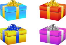 Free Gift Box Set Royalty Free Stock Photography - 14148677