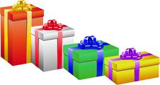 Free Gift Box Set Royalty Free Stock Photography - 14148687