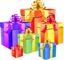 Gift Box Set Stock Image