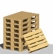 Pallets Royalty Free Stock Photos