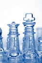 Free Glass Chess Pieces With Blue Light Royalty Free Stock Images - 14150719