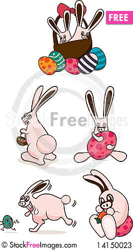 Free Cuddly Easter Bunnies Stock Photos - 14150023