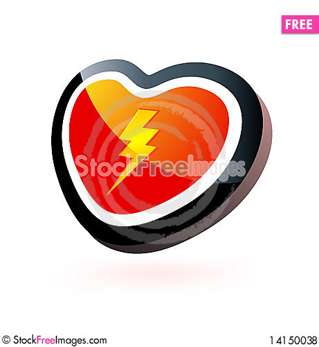 Free Heart Button Royalty Free Stock Photos - 14150038
