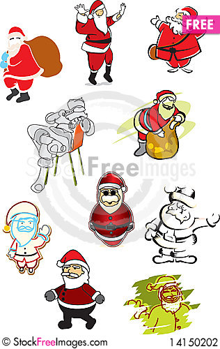 Free 10 Illustrations Of Santa Claus Stock Photography - 14150202