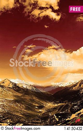Free Snow Mountain Stock Photography - 14150432
