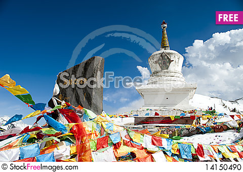 Free Prayer Flags Stock Photo - 14150490