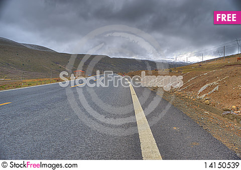 Free Mountain Road Sky Snow Royalty Free Stock Images - 14150539