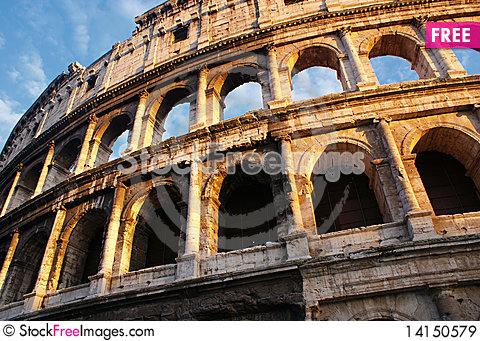 Free Coliseum In The Evening Royalty Free Stock Images - 14150579